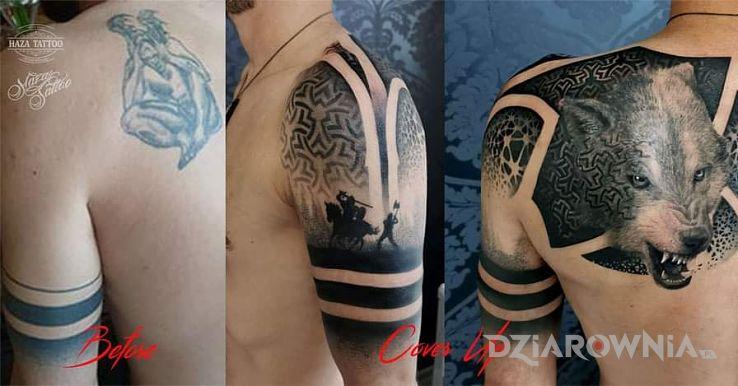 Tatuaż wilk - 3D