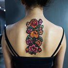 Kwiatki piękne haftowane