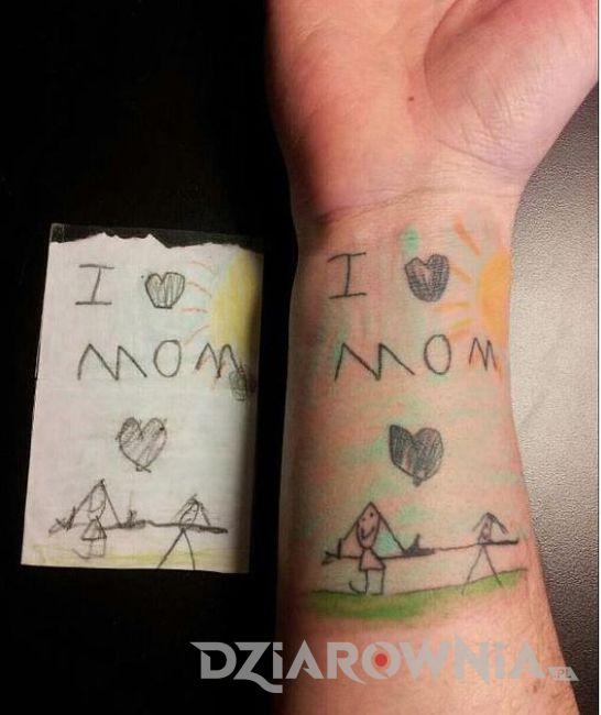 Tatuaż rysunek dziecka