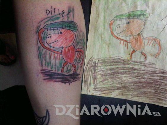 Tatuaż rysunek dziecka 3
