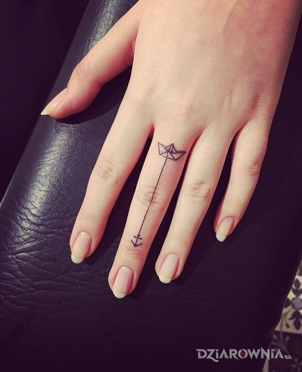 Tatuaż Na Palcu Autor Sanderka Dziarowniapl