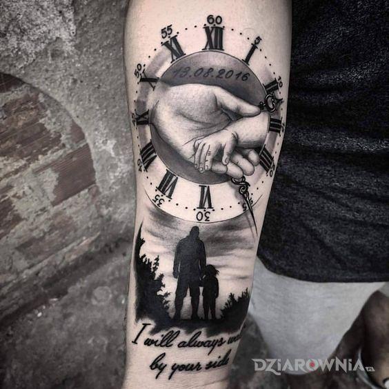 Tatuaż rodzic  dziecko - napisy