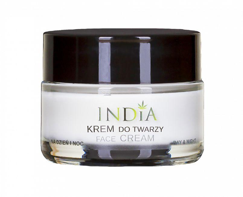 Krem do twarzy do każdego typu cery na dzień i noc India Cosmetics