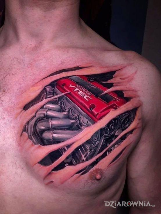 Tatuaż vtec silnik - przedmioty