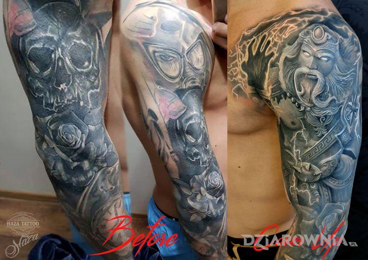 Tatuaż cover zeus - postacie