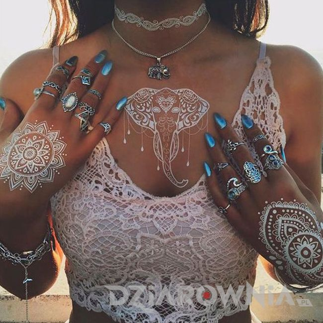 Tatuaż z henny 3
