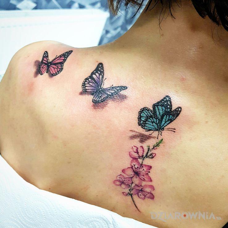 Tatuaż motylove - kolorowe