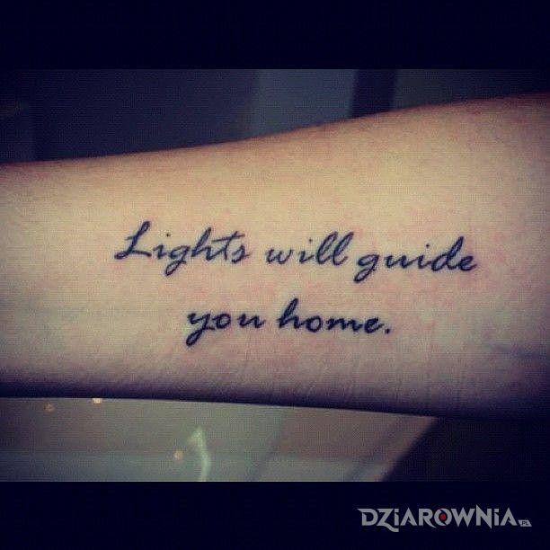 Tatuaż jak wrocic do domu - napisy