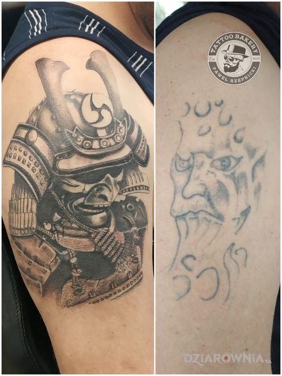 Tatuaż samuraj - cover up