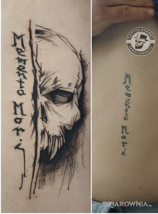 Tatuaż czaszka - cover up