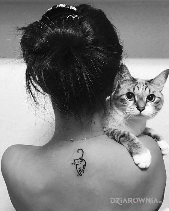 Tatuaż kicia - zwierzęta