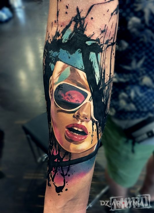 Tatuaż california sunset - postacie