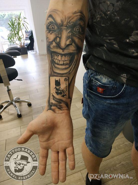 Tatuaż joker - czarno-szare