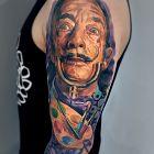 Salvador Dali, kolorowy portret