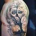 Wycena tatuażu - Drzewo i ptaki