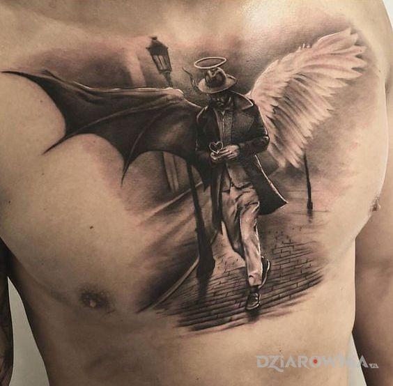 Tatuaż podwójna natura - demony