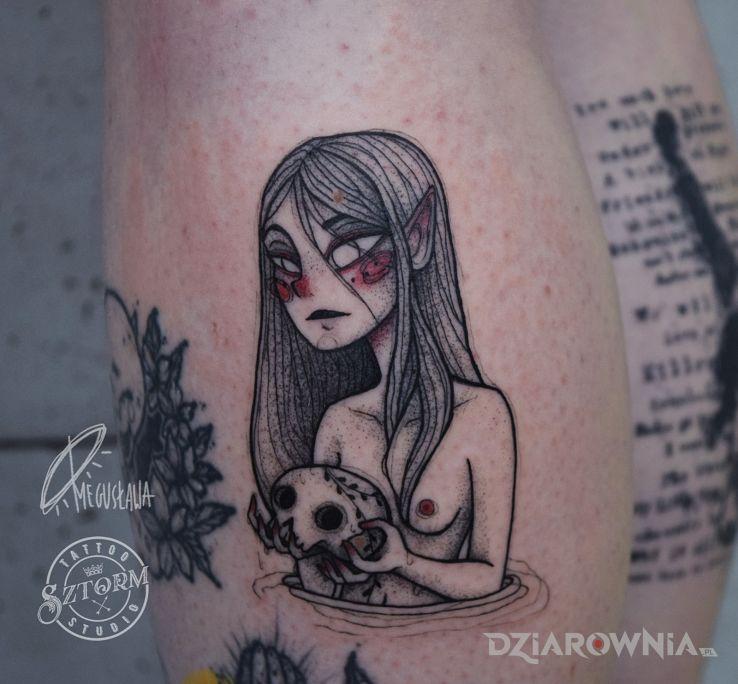 Tatuaż smutny graficzny tatuaż - demony