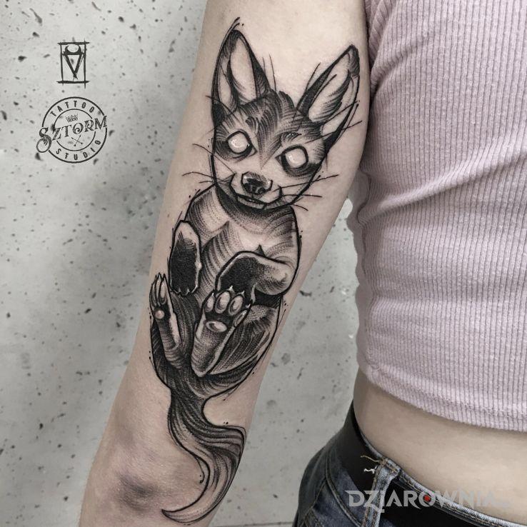 Tatuaż słodki zwierzak - zwierzęta