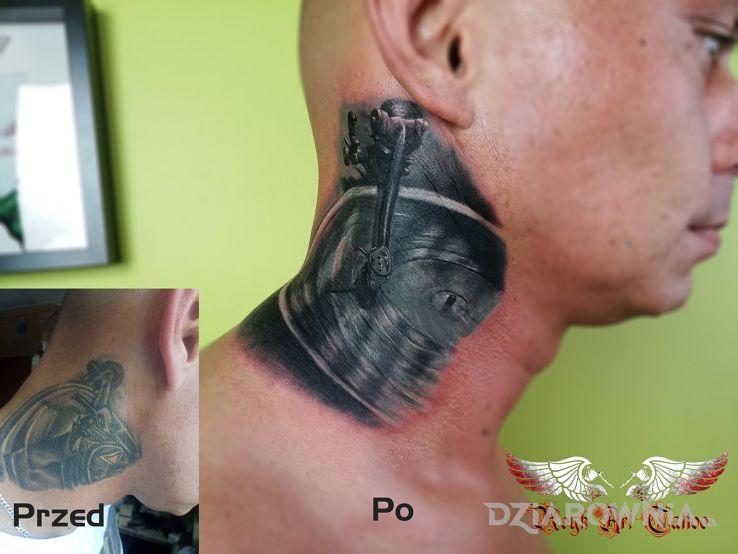 Tatuaż muzyczny coverek - 3D