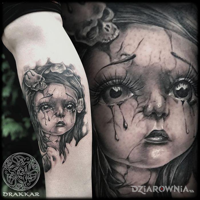 Tatuaż dziewczynka - twarze