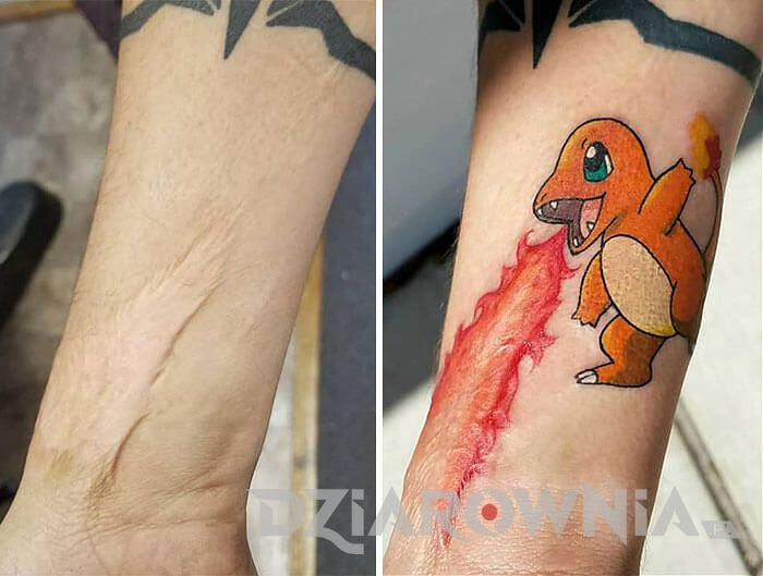 Blizna zakryta tatuażem 4
