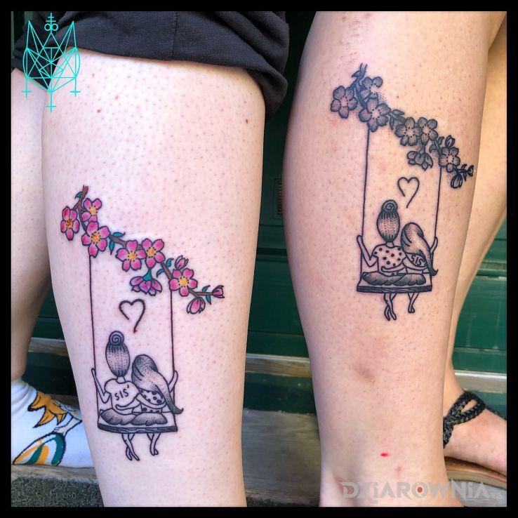 Tatuaż E Dla Sióstr Autor Ankas Dziarownia Pl