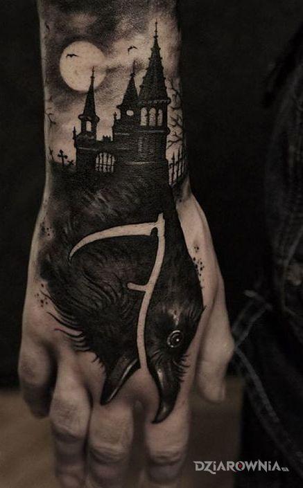 Tatuaż krucza kosa - zwierzęta