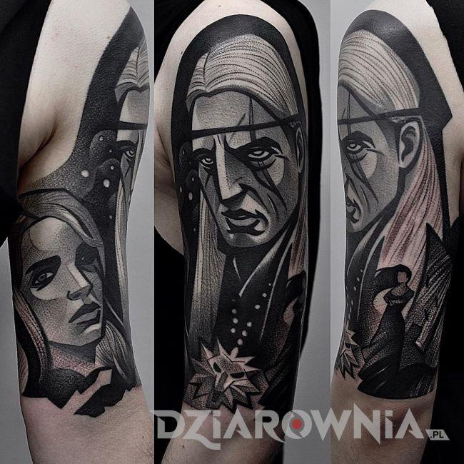 Tatuaż wiedźmin