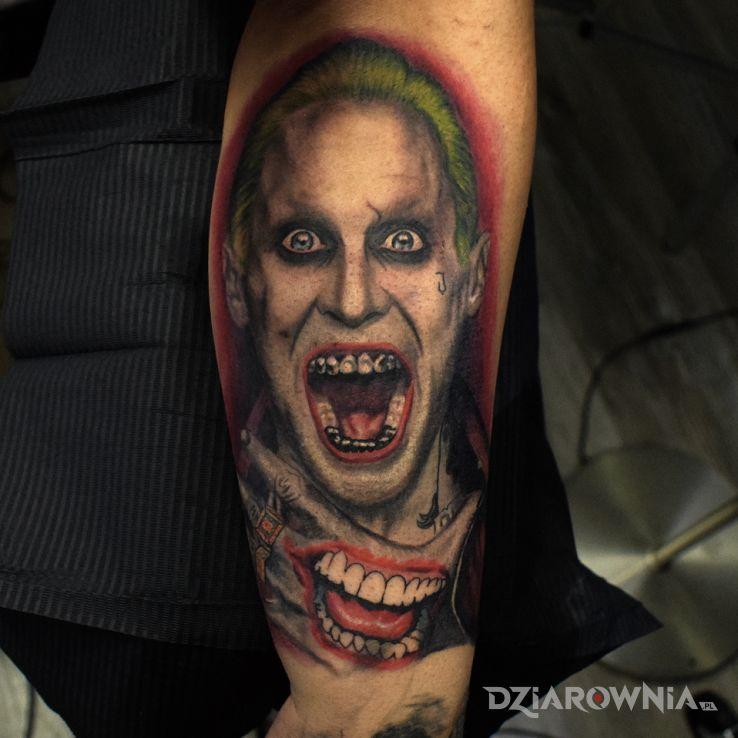 Tatuaż gangsta joker - twarze