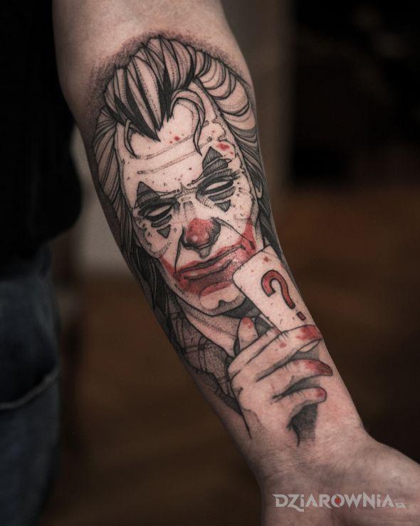 Tatuaż joker  batman - postacie