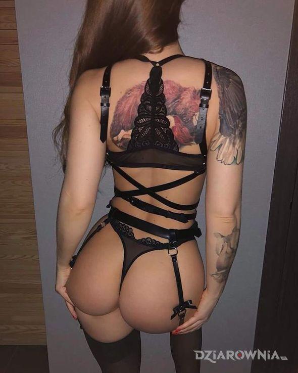 Tatuaż niezly przysiad - kolorowe