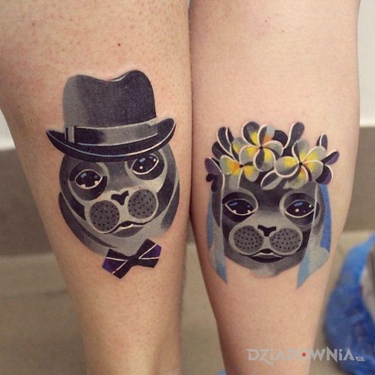 Tatuaż foczki - miłosne