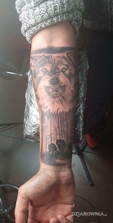 Tatuaż wilk - zwierzęta