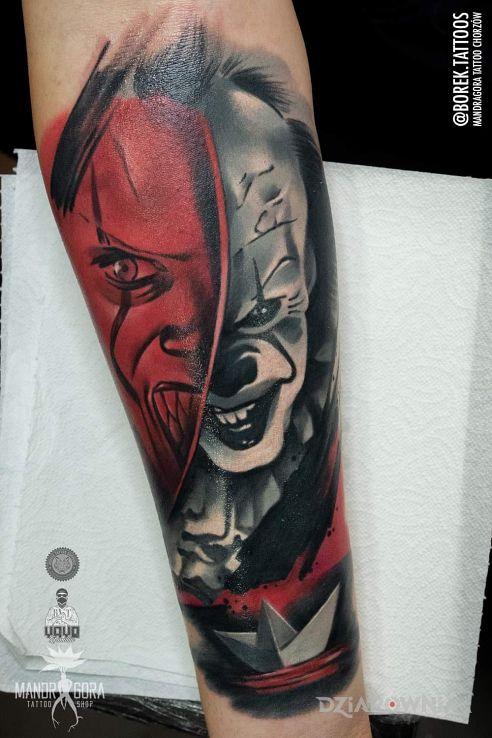 Tatuaż pennywise - twarze