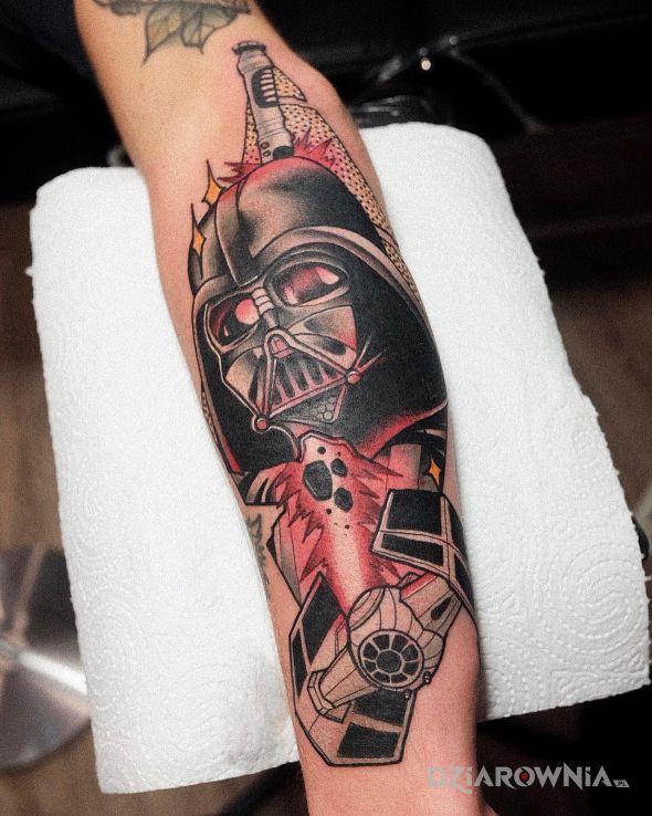 Tatuaż vader  star wars  neotraditional - kolorowe