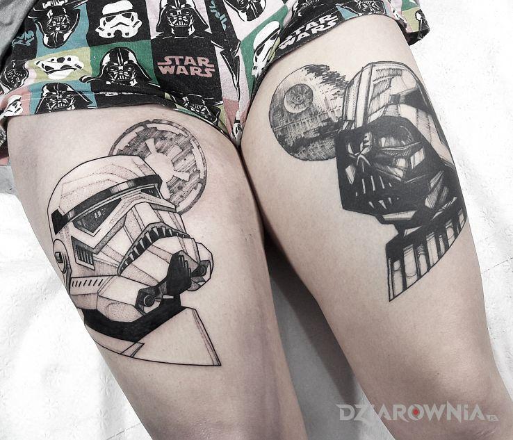 Tatuaż vader  stormtrooper  star wars  gwiezdne wojny - postacie