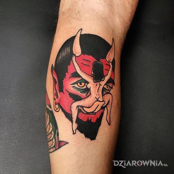 Tatuaż jezyczek diabla - demony
