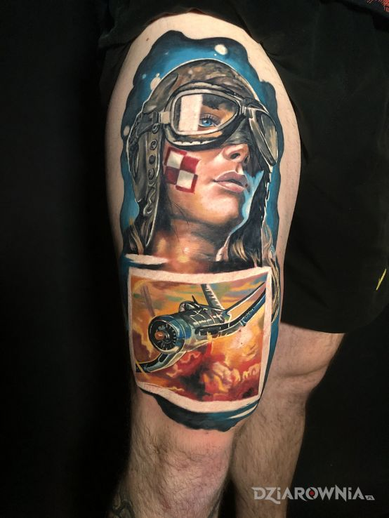 Tatuaż fly away - twarze