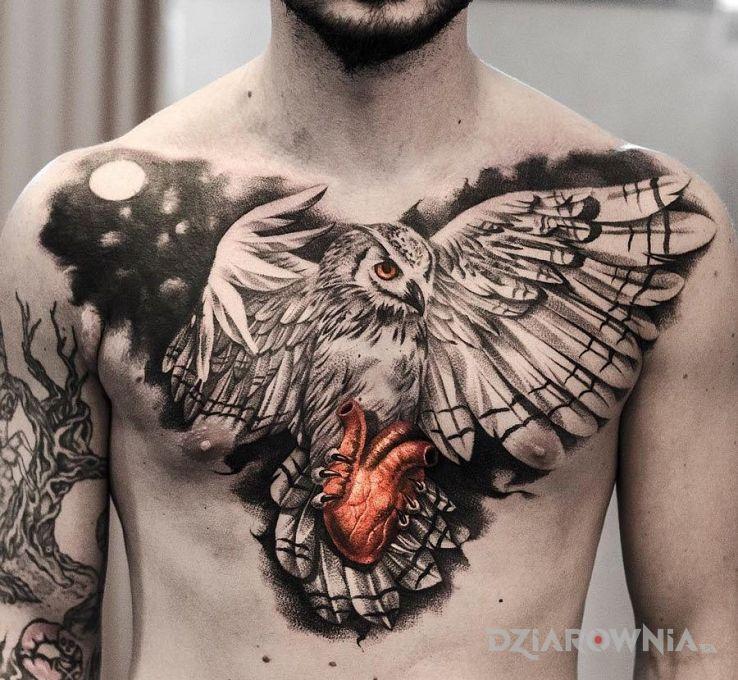 Tatuaż Sowa Autor Poldon Dziarowniapl