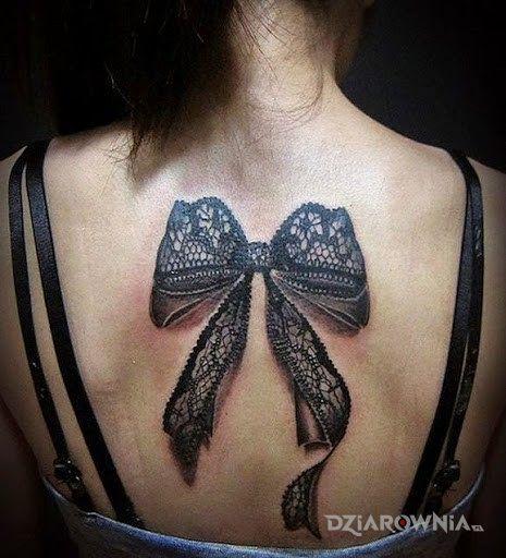 Tatuaż Koronkowa Kokardka Autor Poldon Dziarowniapl
