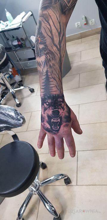 Tatuaż wolf - zwierzęta