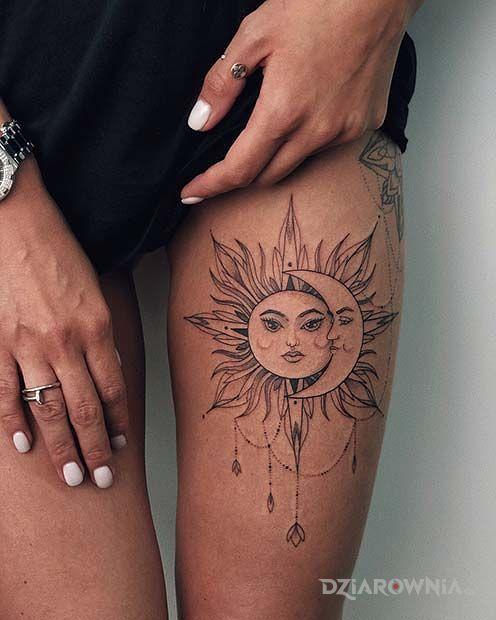 Tatuaż słońce i księżyc - pozostałe