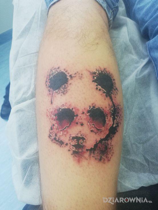 Tatuaż panda - kolorowe