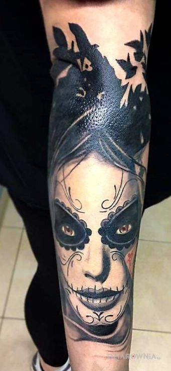 Tatuaż santa muerte - demony