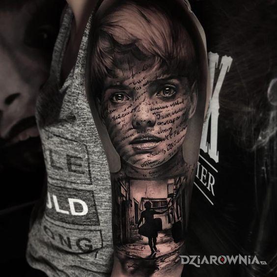 Tatuaż wypisane na twarzy - 3D