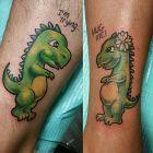 Dwa zielone dinozaury