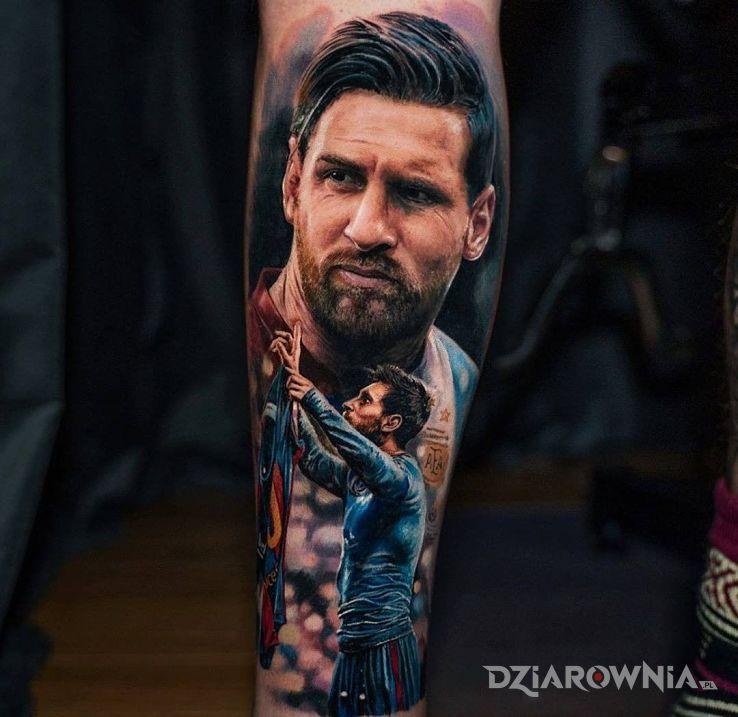Tatuaż boski messi - 3D