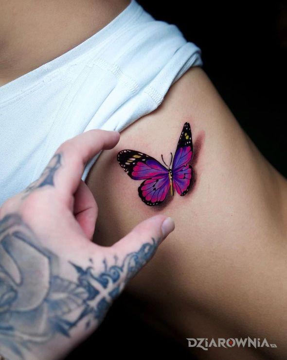 Tatuaż śliczny motyl - motyle