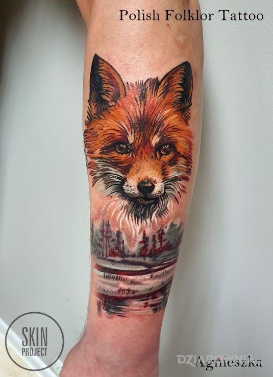 Tatuaż lis - zwierzęta