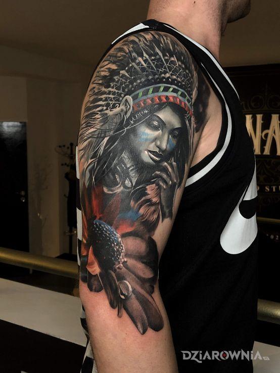 Tatuaż cover - indiańskie